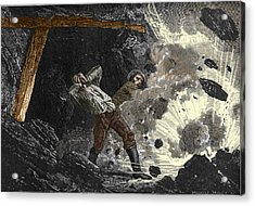 Coal Mine Explosion, 19th Century Acrylic Print by Sheila Terry