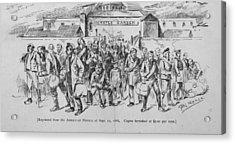 Coal Miners, Pittsburgh Pa. 1888 Acrylic Print by Everett