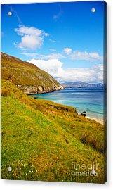 Coast At Keem Bay On Achill Island Acrylic Print by Gabriela Insuratelu