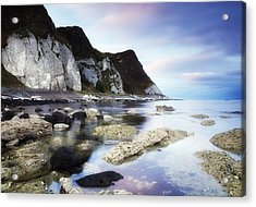 Coast Between Carnlough & Waterfoot, Co Acrylic Print by The Irish Image Collection