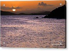 Coast Guard Beach Sunset Acrylic Print by Thomas R Fletcher