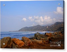 Coast Line California Acrylic Print by Susanne Van Hulst