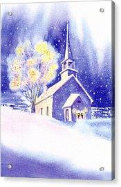 Coastal Church Christmas Acrylic Print by Joseph Gallant