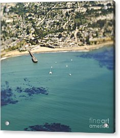 Coastal Community And Sailboats Acrylic Print