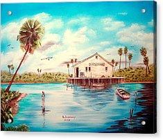 Coastal Glades Acrylic Print by Riley Geddings