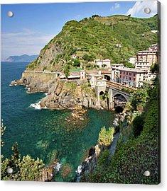 Coastal Railway Tunnel In Italian Village Acrylic Print by Wx Photography