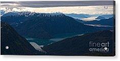 Coastal Range Fjords Acrylic Print by Mike Reid