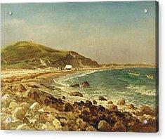 Coastal Scene Acrylic Print by Albert Bierstadt