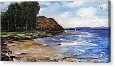 Acrylic Print featuring the painting Coastel View by Renate Voigt