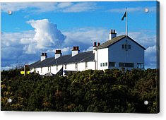 Coastguard Cottages Dunwich Heath Suffolk Acrylic Print by Darren Burroughs