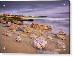 Coastline At Twilight Acrylic Print by Carlos Caetano