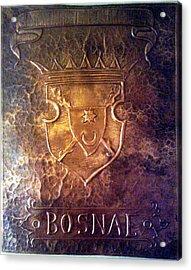 Coat Of Arms Bosnia  Acrylic Print by Mak Art