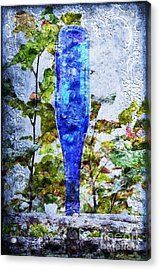 Cobalt Blue Bottle Triptych 1 Of 3 Acrylic Print by Andee Design