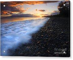 Cobblestone Sunset Acrylic Print by Mike  Dawson