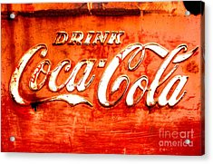 Acrylic Print featuring the photograph Coca Cola by Amy Sorrell