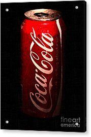 Coca Cola Coke Can . Painterly Acrylic Print by Wingsdomain Art and Photography