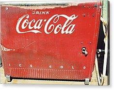 Coca Cola Acrylic Print by Trent Mallett