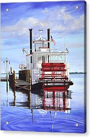Cocoa Belle At Dock Acrylic Print by AnnaJo Vahle