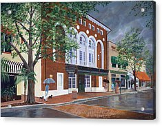 Acrylic Print featuring the painting Cocoa Village Playhouse by AnnaJo Vahle
