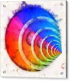 Code Of Colors 8 Acrylic Print by Angelina Vick