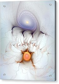 Acrylic Print featuring the digital art Coexistence by Casey Kotas
