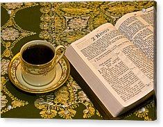 Coffee And Bible Acrylic Print