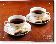Coffee And Cookies Acrylic Print by Darren Fisher