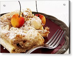 Coffee Cake Acrylic Print by Blink Images