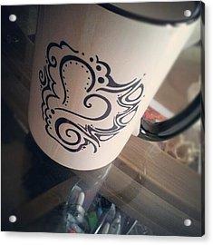 #coffee #heart #abstract #sharpie Acrylic Print