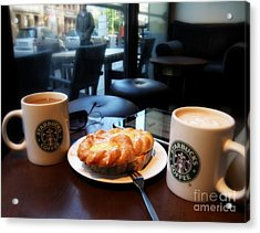 Coffee In Berlin Acrylic Print by Tanya  Searcy