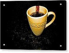 Coffee In The Big Yellow Cup Acrylic Print