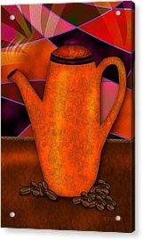 Coffee Pot Acrylic Print by Melisa Meyers