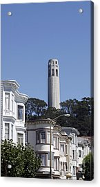 Acrylic Print featuring the photograph Coit Tower by Denise Pohl
