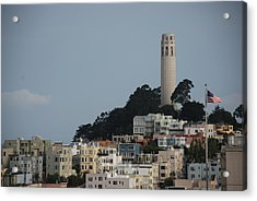 Acrylic Print featuring the photograph Coit Tower by Eric Tressler
