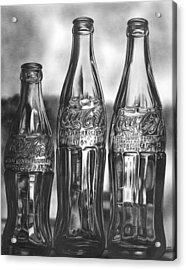 Coke Bottles Acrylic Print by Jerry Winick