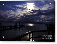 Acrylic Print featuring the photograph Cold Night On The Water by Clayton Bruster