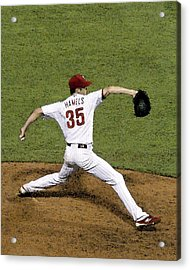 Cole Hamels Acrylic Print by Gerry Mann