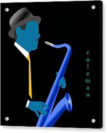 Coleman Hawkins Blue Acrylic Print by Victor Bailey
