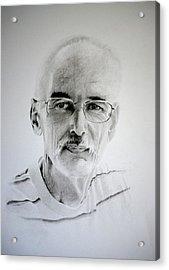 Acrylic Print featuring the drawing Colin by Lynn Hughes