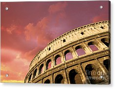 Coliseum. Rome. Lazio. Italy. Europe Acrylic Print by Bernard Jaubert
