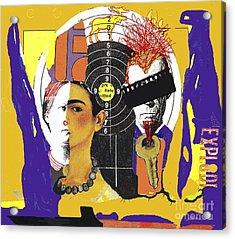 Collage Frida Acrylic Print