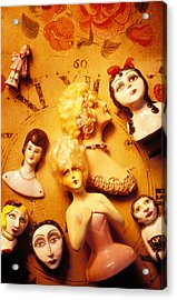 Collectable Dolls Acrylic Print by Garry Gay