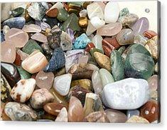 Collection Of Semiprecious Gemstones Acrylic Print
