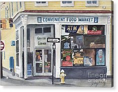 College Corner Original...sold Acrylic Print