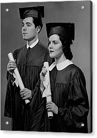 College Graduation Acrylic Print by George Marks
