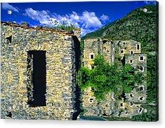 Colletta Di Castelbianco In Val Pennavaire Acrylic Print by Enrico Pelos