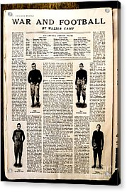 Colliers Jan 5 1918 Pg 32 Acrylic Print by Roy Foos