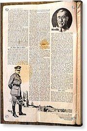 Colliers Jan 5 1918 Pg 6 Acrylic Print by Roy Foos
