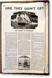 Colliers Jan 5 1918 Pg 8 Acrylic Print by Roy Foos