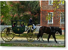 Colonial Williamsburg Carriage Acrylic Print by Anna Sullivan
